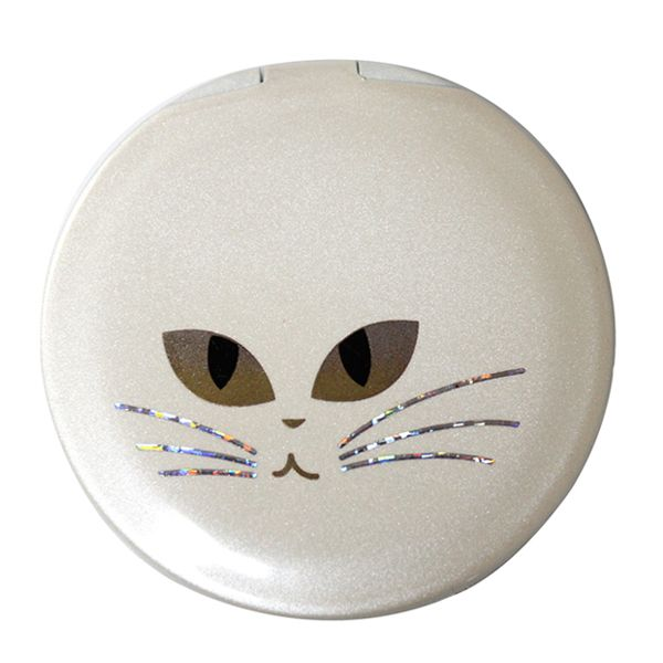 画像1: 白猫コンパクトミラー