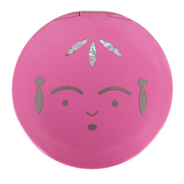 画像1: こけしコンパクトミラー ピンク