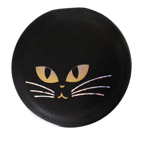 画像1: 黒猫コンパクトミラー
