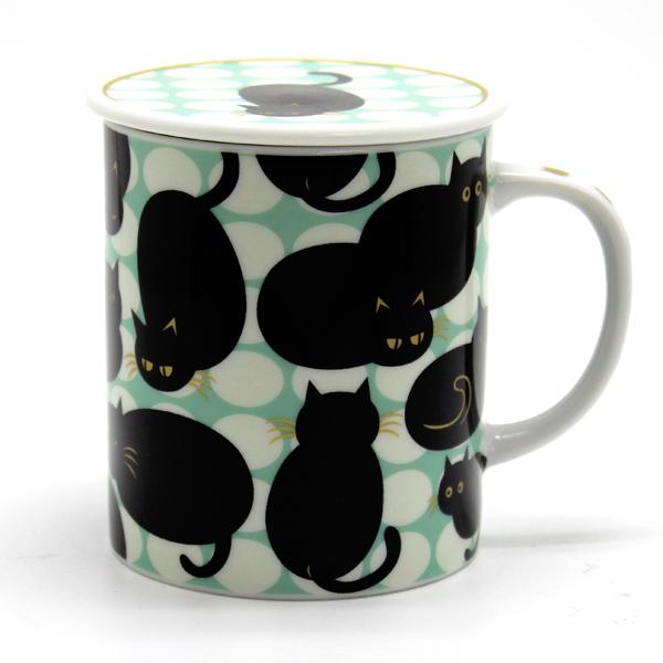 画像1: ドットキャット黒猫グリーン