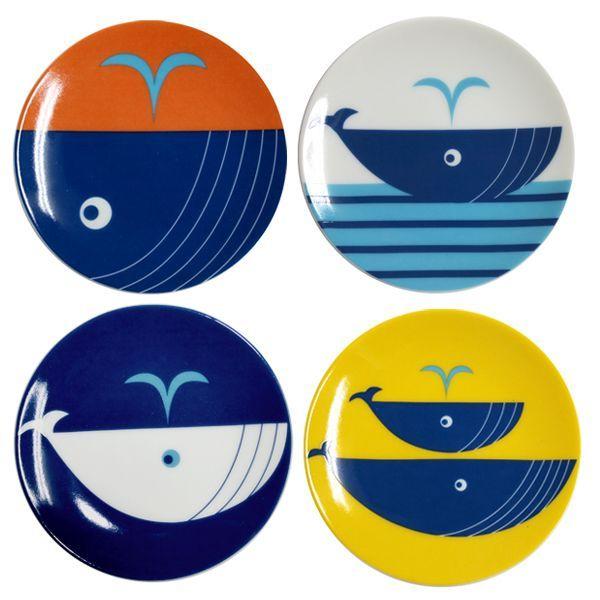 画像1: クジラ小皿セット